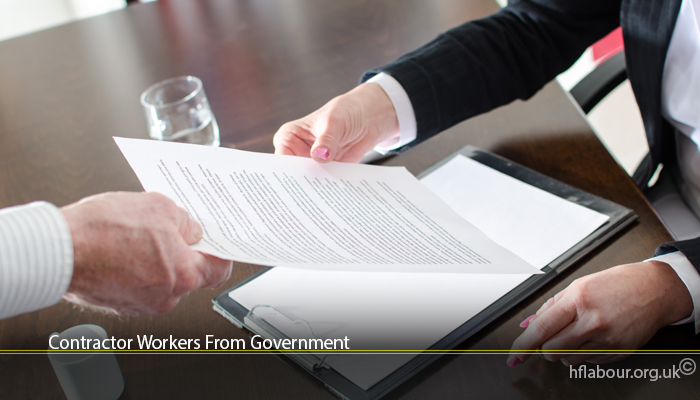 Contractor Workers From Government