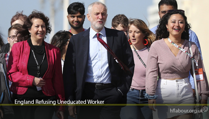 England Refusing Uneducated Worker